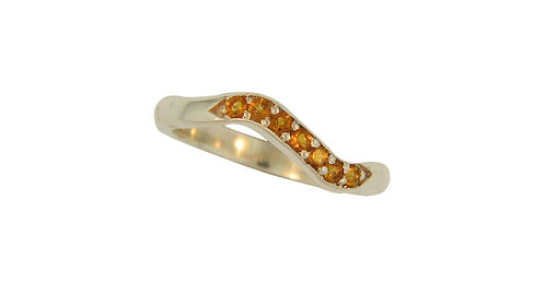 SS Honey Topaz Stackable Ring (Citrine is pictured)