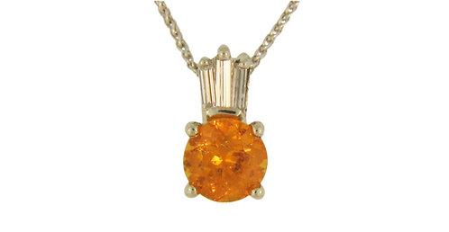 Golden Spessartite Garnet Pendant