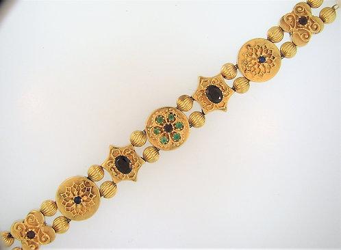 Multi-stone Gold Bracelet