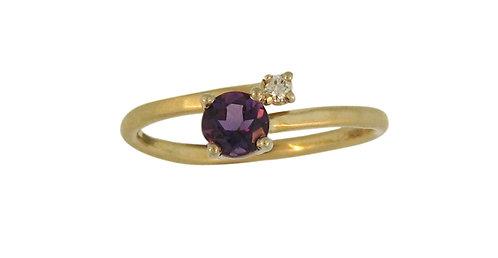 Simple Amethyst Ring