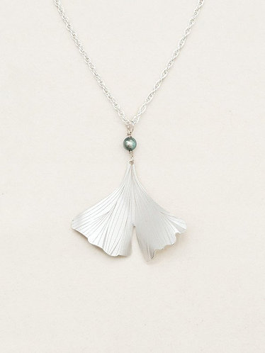 Silver Ginkgo Pendant Necklace