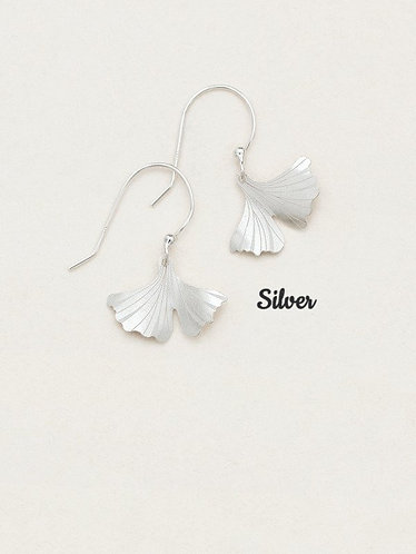 Petite Ginkgo Earrings