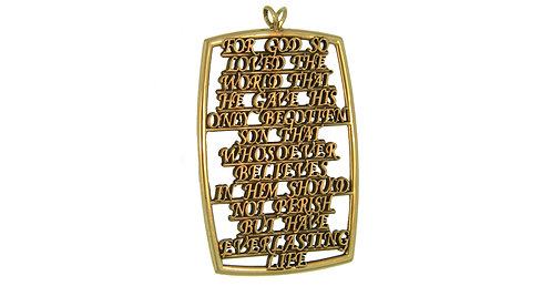 John 3:16 Gold Pendant