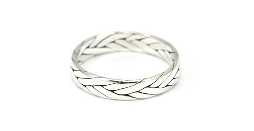 Small Sterling Silver Braided Ring