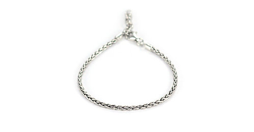 "Sterling Silver Handmade Wheat Chain 7""-8"""