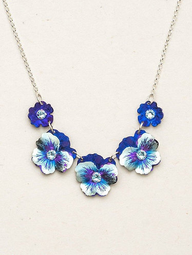 Garden Pansy Classic Necklace