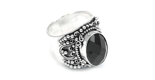 Bali Black Onyx Ring