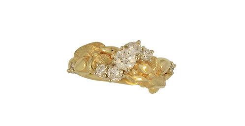 Custom Yellow Gold Diamond Ring