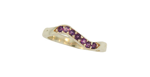 SS Amethyst Stackable Ring