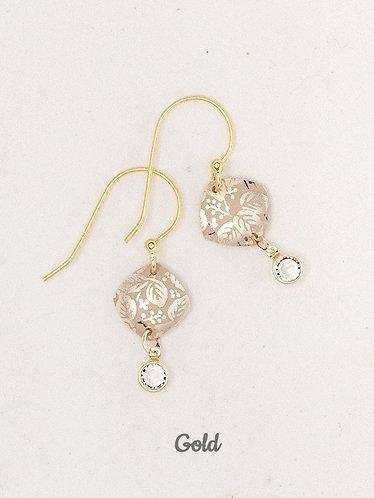 Square Leaf Earrings