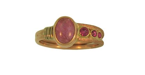 Pink Star Sapphire Ring