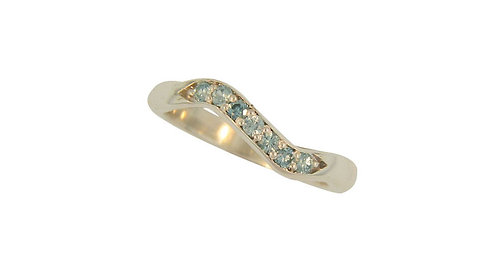 SS Blue Zircon Stackable Ring