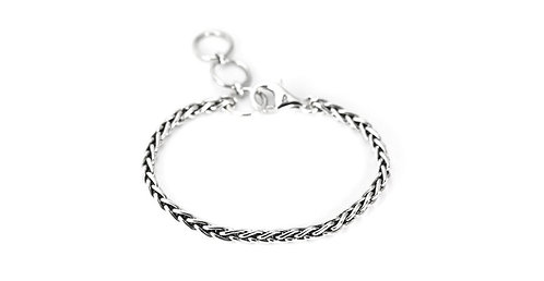 Sterling Silver Classic 4mm Wheat Chain Bracelet