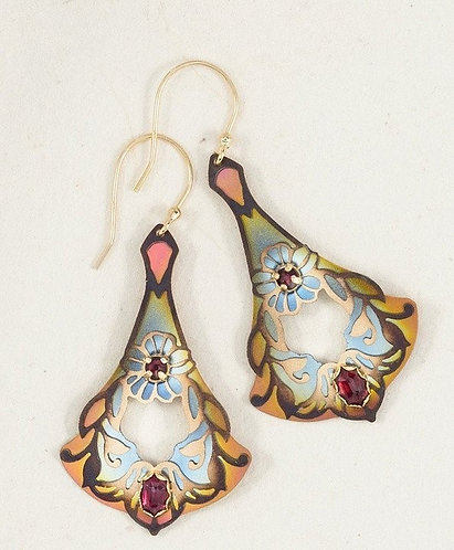 Garnet/Peach Florence Earrings