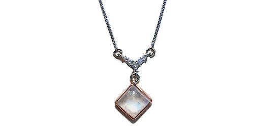 Moonstone & Diamond Necklace