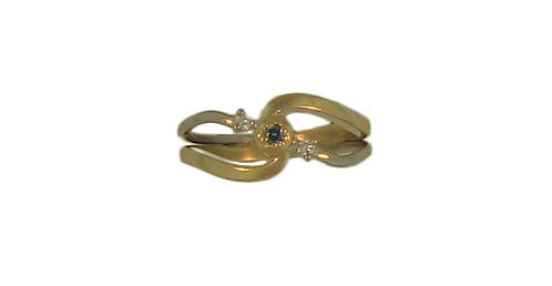 Teal Blue Diamond Ring