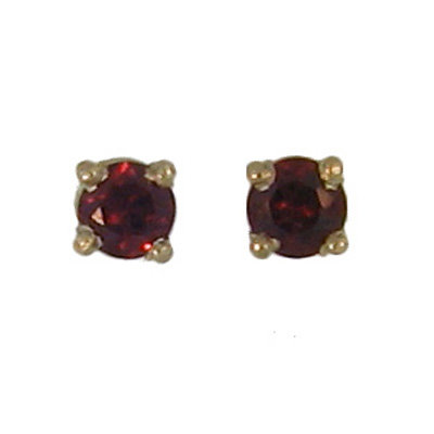 Mozambique Garnet Post Earrings