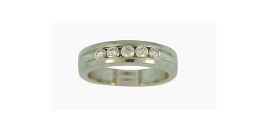 Platinum Five Diamond Ring