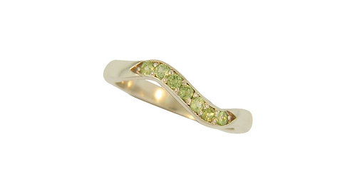 SS Peridot Stackable Ring