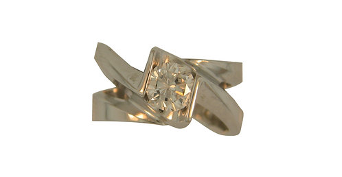14kt White Gold Diamond Solitare