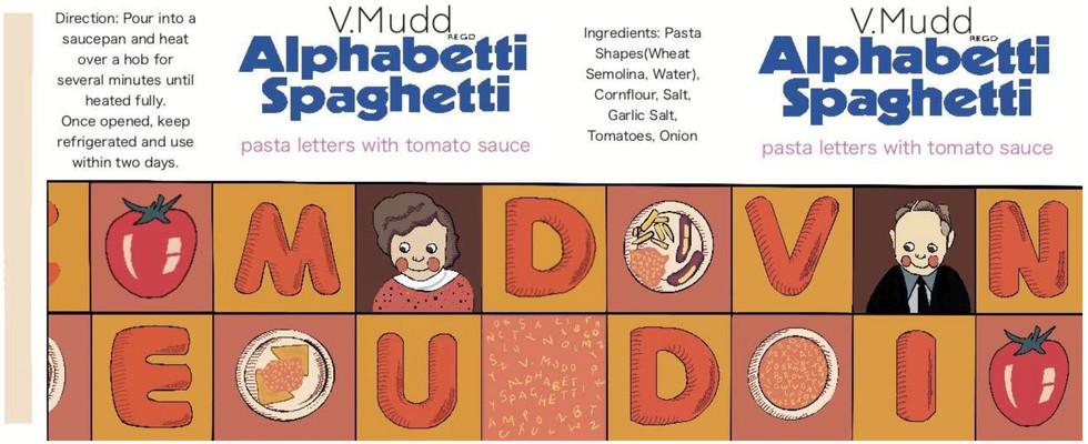 V. Mudd Alphabetti Spaghetti