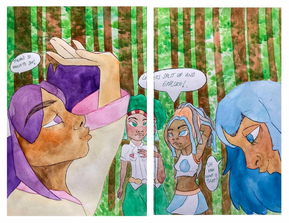 Illustration for Pokémon. Pages 1 & 2