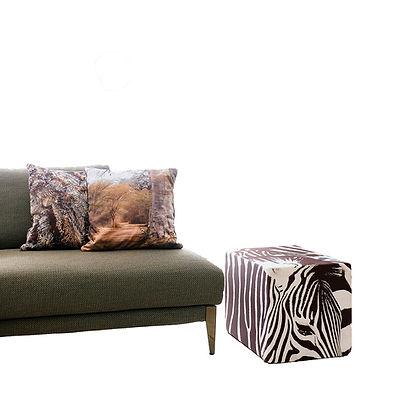 bar à coussins, cube et pouf pour décoration salon, bureau, chambre