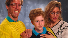 Oh dear, how not to take a family portrait...