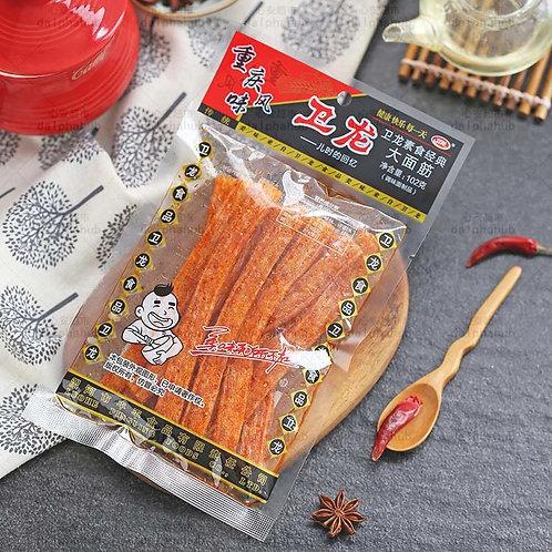 Weilong Vegetarian Classic Big Gluten 102g 卫龙素食经典大面筋
