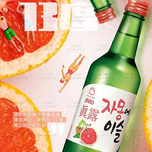Soju Grapefruit flavor 真露西柚味13度烧酒360ml