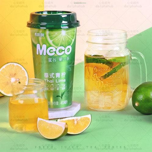 MECO Green Lemon fruit juice 香飘飘MECO蜜谷果汁茶泰式青柠400ml