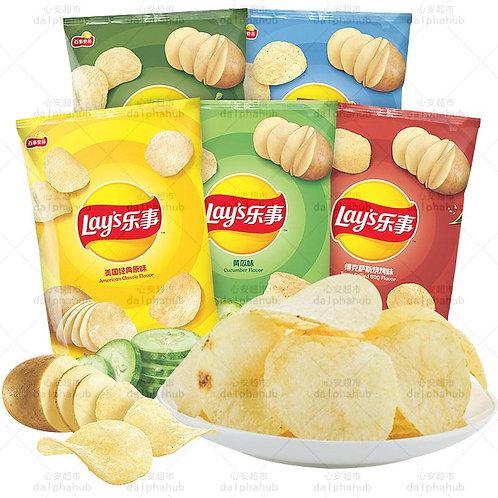 Lays Potato Chips (Original/Barbecue/Cucumber/Spicy/Tomato) 乐事马铃薯片多口味70g