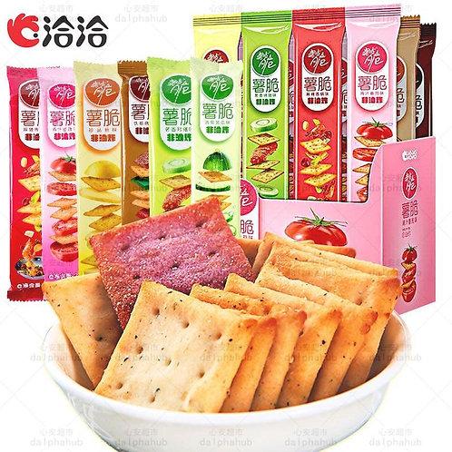 Crispy potato crackers 洽洽喀吱脆薯脆珍品35g