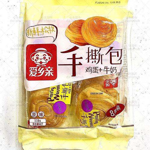 Hand tearing bag bread 爱乡亲手撕包338g