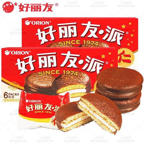 Chocolate pie 好丽友巧克力派6枚装204g