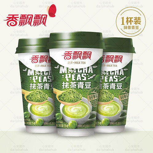 Matcha green bean milk tea 香飘飘高杯好料抹茶青豆奶茶