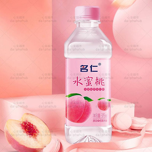 Peach fruit flavored soda  375ml 名仁水蜜桃果味