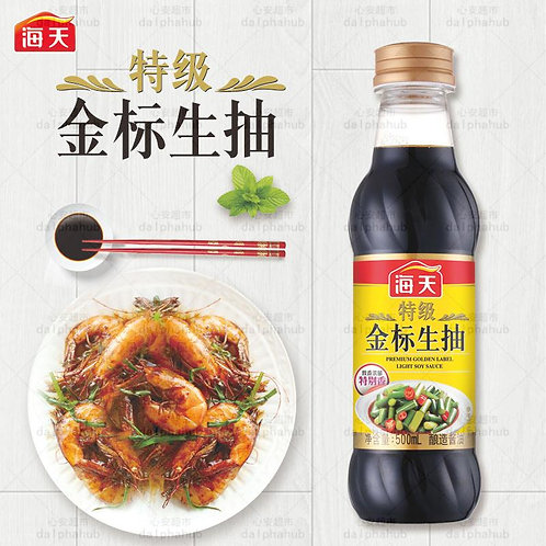 thin soy sauce 海天特级金标生抽王500ml