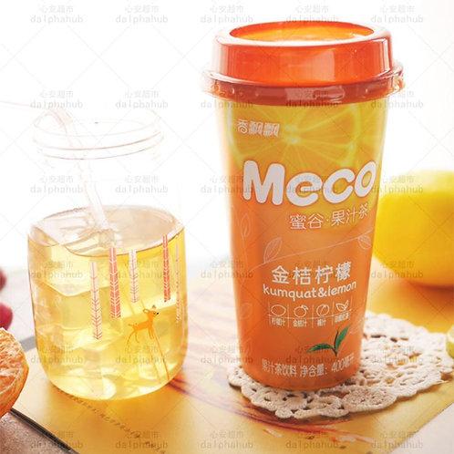 MECO Lemon fruit juice 香飘飘MECO蜜谷果汁茶金桔柠檬400ml