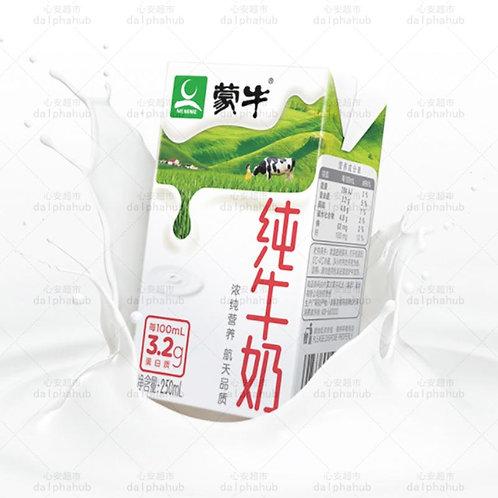 mengniu milk 蒙牛纯牛奶250ml