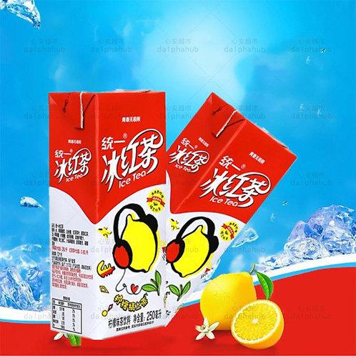 Unified iced black tea lemon flavor 250ml 统一冰红茶柠檬味