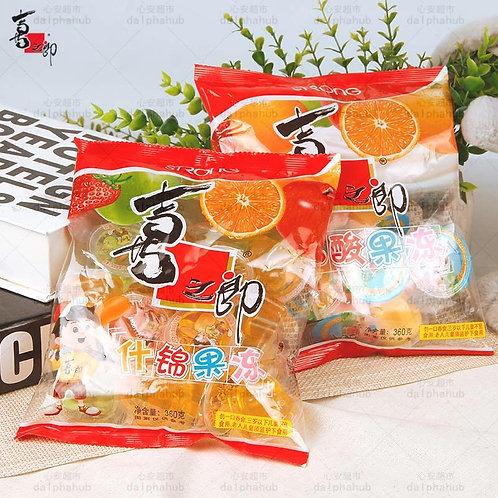 jelly 喜之郎什锦/乳酸果冻360g