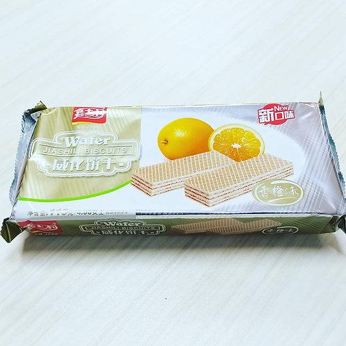 Jiashili Wafer Biscuits (Orange Flavor) 115g 60php