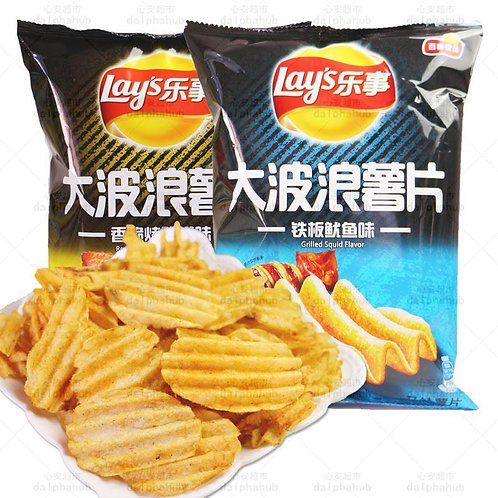 LAYS Potato Chips 乐事大波浪薯片70g