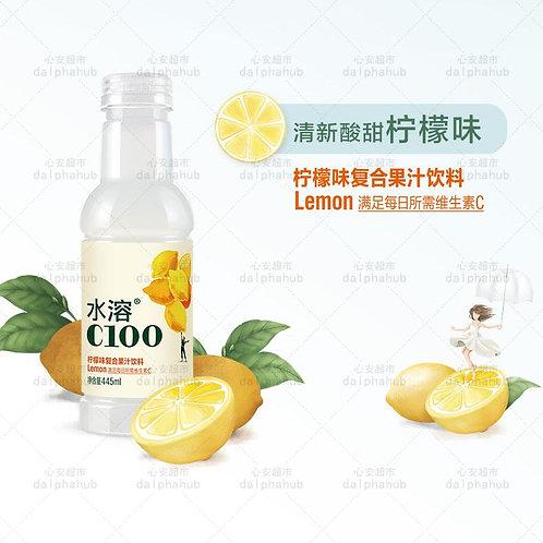 C100 Lemon Flavored Mineral Water  农夫山泉水溶c100柠檬味445ml