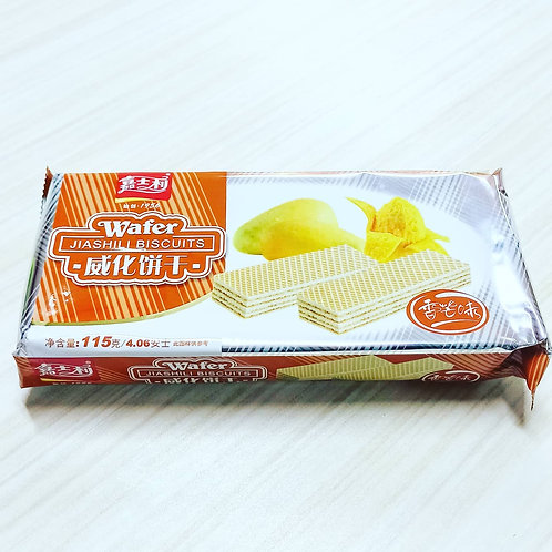 Jiashili Wafer Biscuits (Mango Flavor) 115g 60php