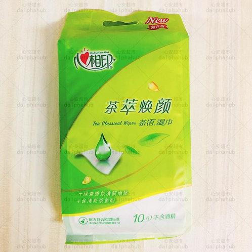 xinxiangyin wipes 心相印茶语湿巾10片