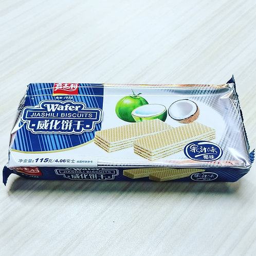 Jiashili Wafer Biscuits (Coconut Flavor) 115g 60php