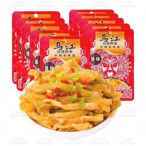 hot pickled mustard tuber 乌江涪陵榨菜微辣80g