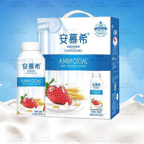 Ambpoeial Yogurt Strawberry oatmeal flavor 伊利安慕希酸奶草莓/黄桃燕麦味200g